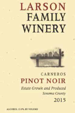 Larson Family Winery Larson Family Pinot Noir Bottle Preview