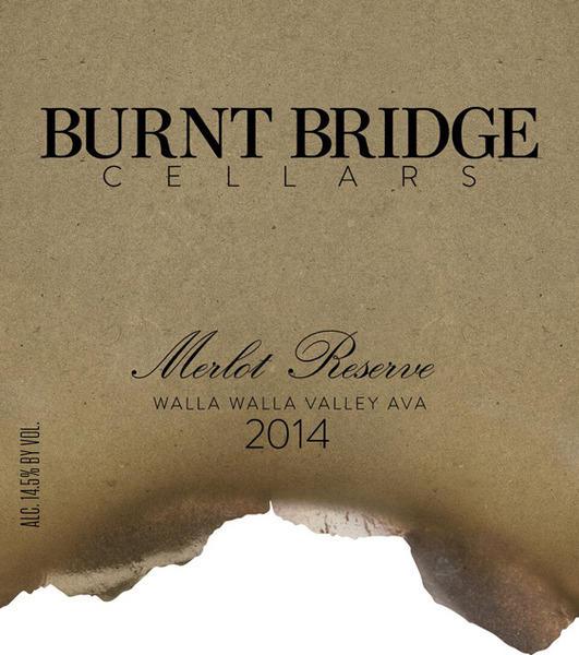 Burnt Bridge Cellars Merlot Reserve Bottle Preview