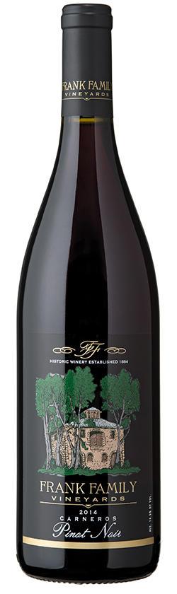 Frank Family Vineyards Carneros Pinot Noir Bottle Preview