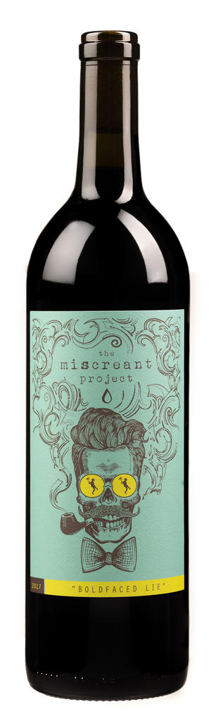TruthTeller Winery The Miscreant Project Boldfaced Lie Bottle Preview