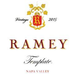 Ramey Wine Cellars Template, Napa Valley Bottle Preview