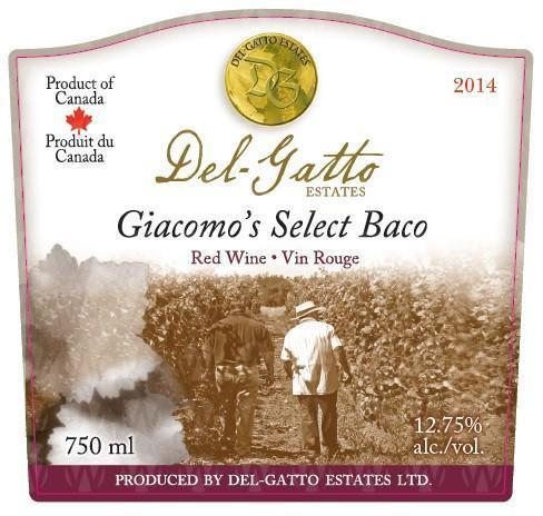 Del-Gatto Estates Giacomo's Select Baco