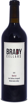 Brady Cellars Merlot - Les Collines Vineyard Bottle Preview