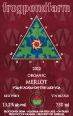 Frogpond Farm Organic Winery Merlot