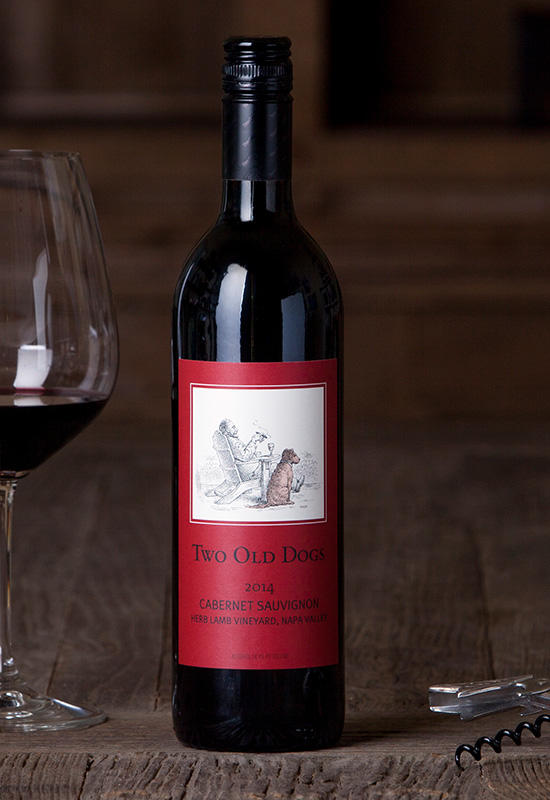 Herb Lamb Vineyards Two Old Dogs Cabernet Sauvignon Bottle Preview