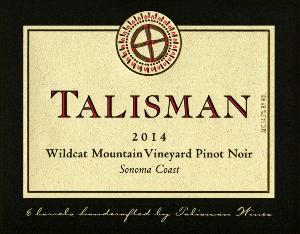 Talisman Wine Wildcat Mountain Vineyard Pinot Noir Bottle Preview