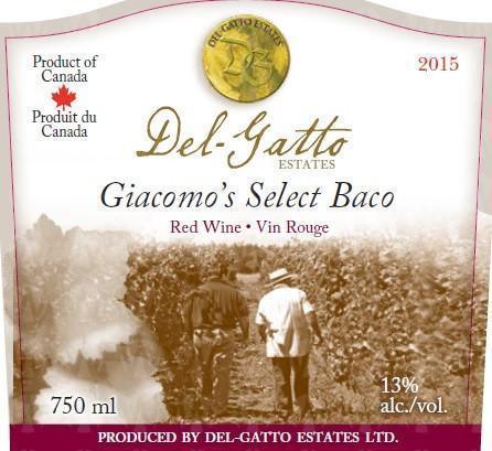 Del-Gatto Estates Giacomo's Select Baco