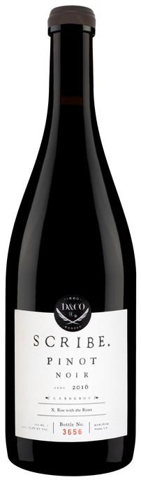 Scribe Winery Carneros Pinot Noir Bottle Preview
