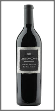 Derenoncourt California LAKE COUNTY CABERNET SAUVIGNON, RED HILLS VINEYARD Bottle Preview