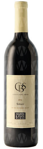 Church & State Wines (Brentwood Bay) Coyote Bowl Syrah
