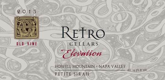 """Retro Cellars Howell Mountain Petite Sirah """"Elevation"""" Bottle Preview"""