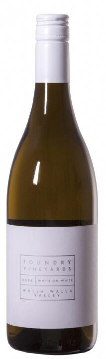 Foundry Vineyards White on White. This is a Rhône-Style white blend. Bottle Preview