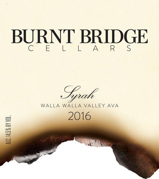 Burnt Bridge Cellars Walla Walla Valley Syrah Bottle Preview