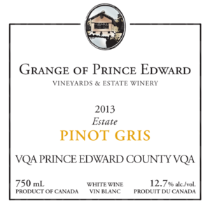The Grange of Prince Edward Vineyards and Estate Winery Estate Pinot Gris