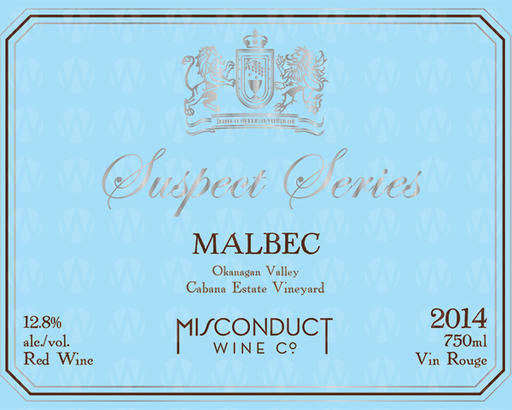 Misconduct Wine Co. Suspect Series Malbec