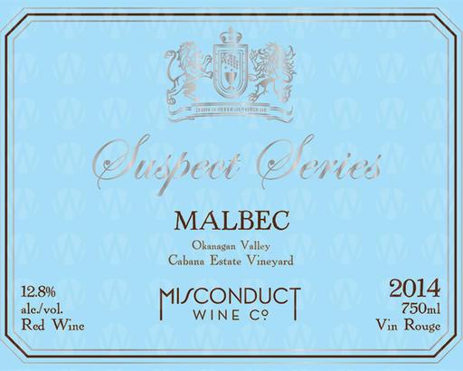 Misconduct Wine Co. Suspect Series Malbec