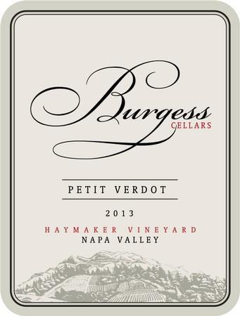 Burgess Cellars Petit Verdot Bottle Preview