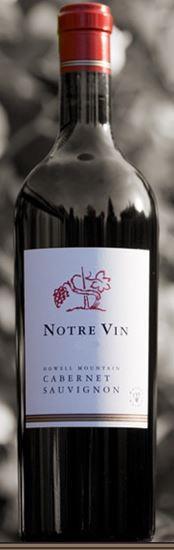 Notre Vin Howell Mountain Cabernet Sauvignon Bottle Preview