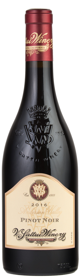 V. Sattui Winery Anderson Valley Pinot Noir Bottle Preview
