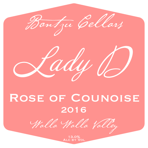 Bontzu Cellars Lady D - Rose of Counoise Bottle Preview