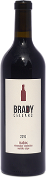 Brady Cellars Malbec - Winemaker's Selection Bottle Preview