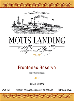 Motts Landing Estate Winery Frontenac Reserve