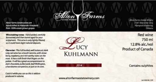 Alton Farms Estate Winery Lucy Kuhlmann