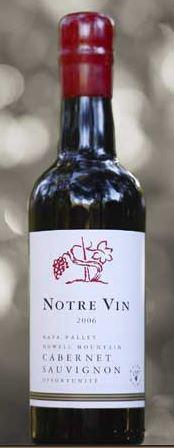 Notre Vin Howell Mountain Cabernet Sauvignon Opportunité Bottle Preview