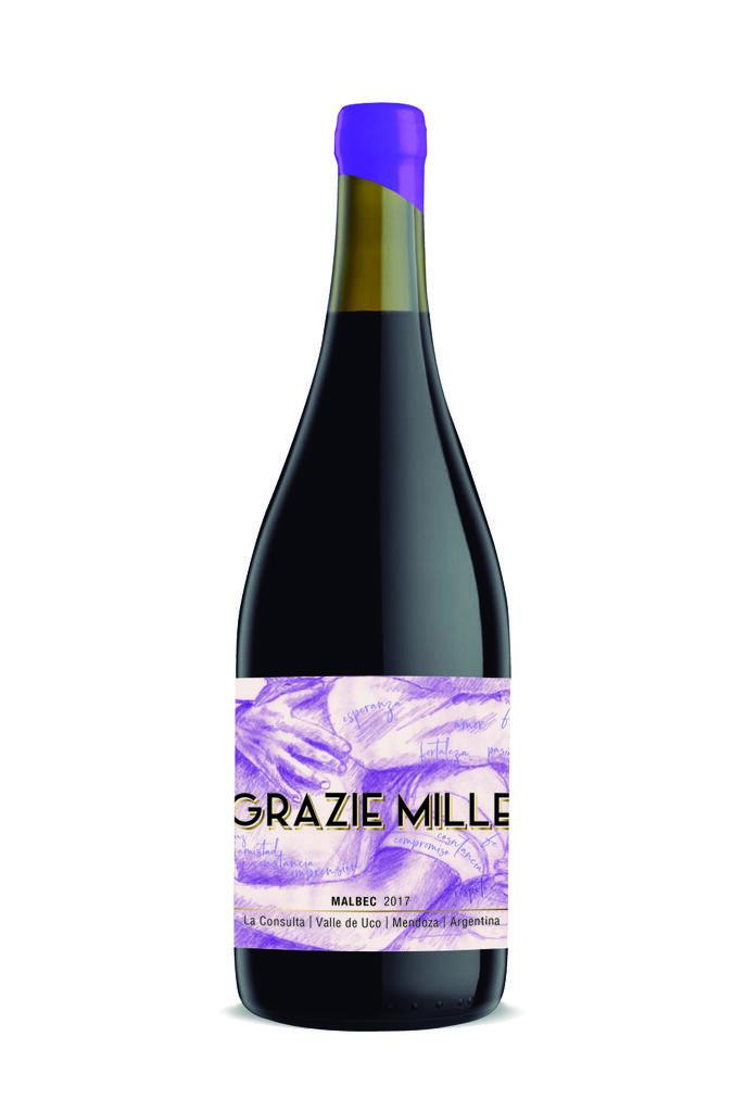 Grazie Mille - Design Wines Linea Design - Malbec Bottle Preview