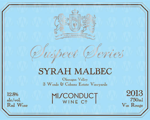 Misconduct Wine Co. Suspect Series Syrah Malbec