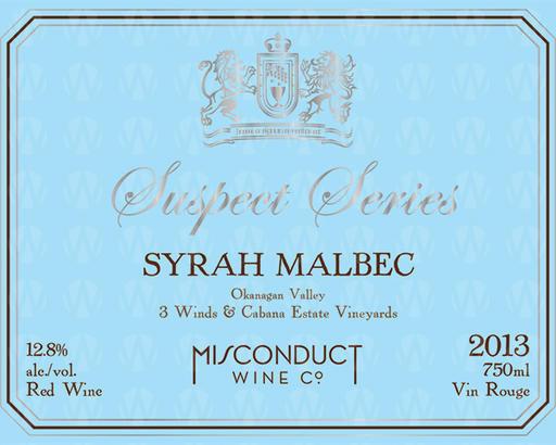 Misconduct Wine Co. Suspect Series Syrah Malbec