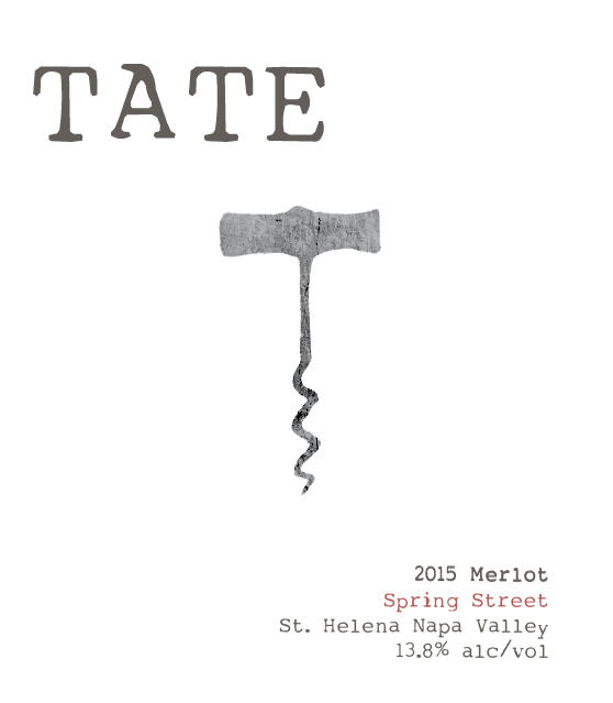 Tate Wines SPRING STREET MERLOT Bottle Preview