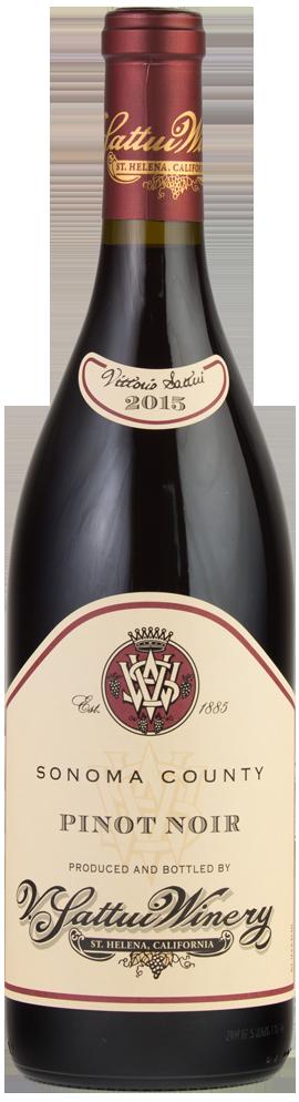 Sonoma County Pinot Noir Bottle