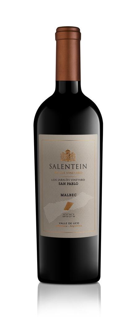 Salentein Single Vineyard Los Jabieles San Pablo Bottle