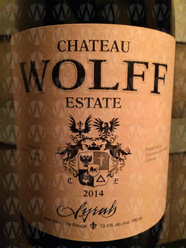 Chateau Wolff Estate Syrah