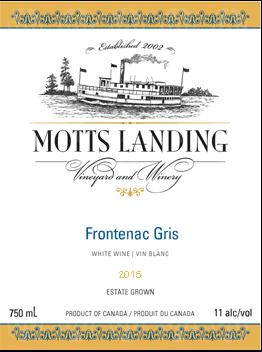 Motts Landing Estate Winery Frontenac Gris