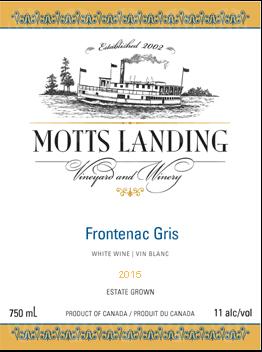 Motts Landing Estate Winery Frontenac Gris