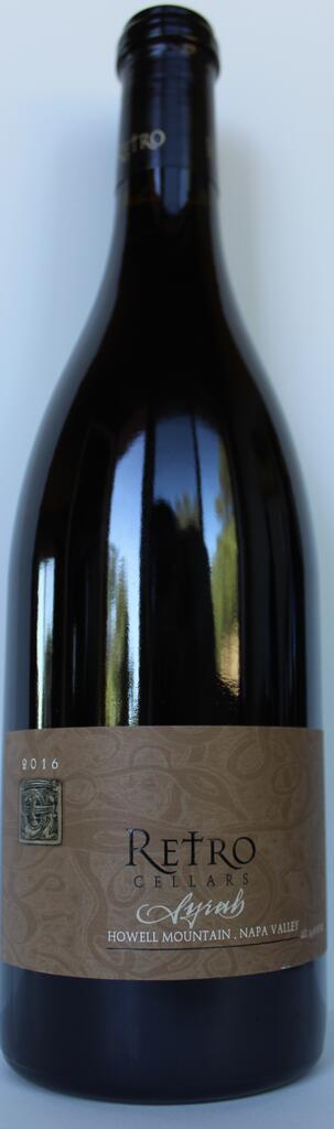 Retro Cellars Syrah Bottle Preview