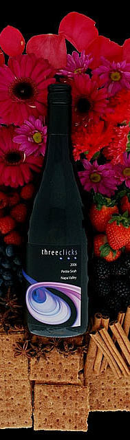 Three Clicks Wines Petite Sirah Bottle Preview