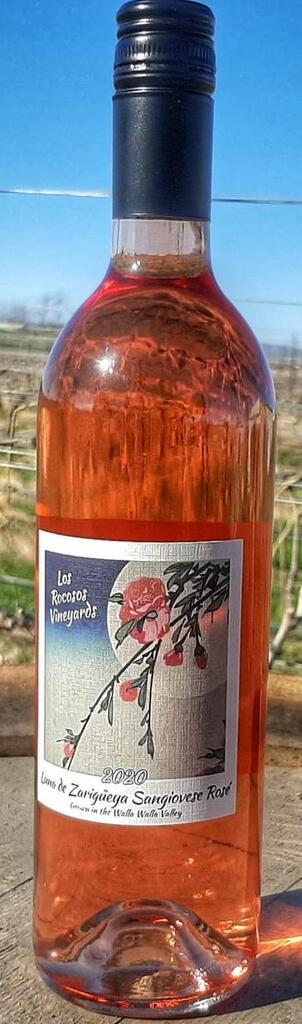 Los Rocosos Vineyards Zaragueya de Luna 2019 Reserve Sangiovese Rose Bottle Preview