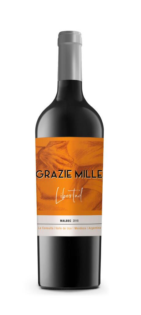 Grazie Mille - Design Wines Linea Libertad - Malbec Bottle Preview