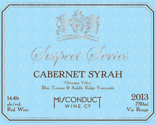 Misconduct Wine Co. Suspect Series Cabernet Syrah