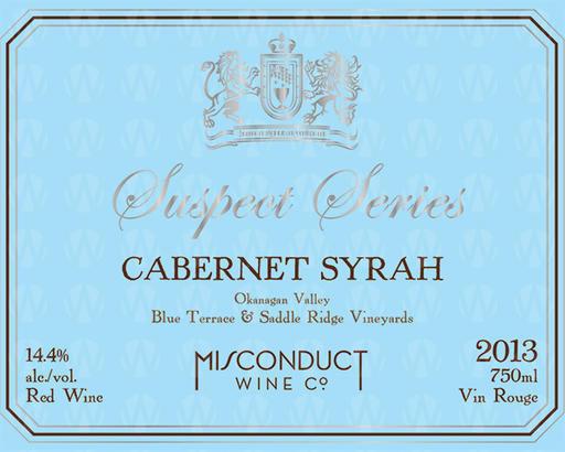 Misconduct Wine Co. Suspect Series Cabernet Syrah
