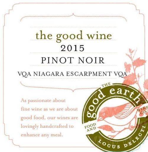 The Good Earth Vineyard and Winery Pinot Noir